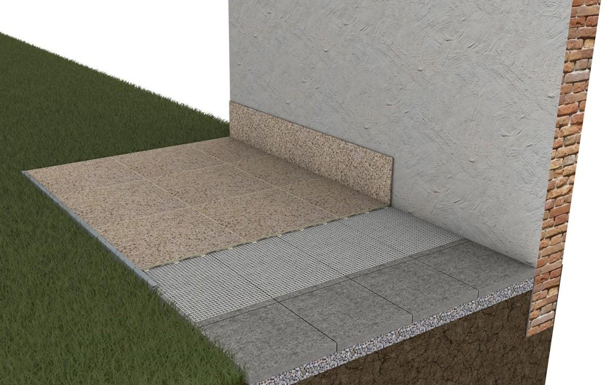 Terrassenbeispiel Betonplatten